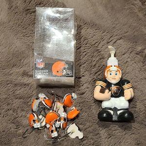 Cleveland Browns shower hooks NFL and soap pump